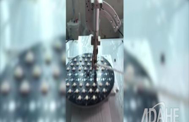 大功率圆盘LED专用自动焊锡机视频