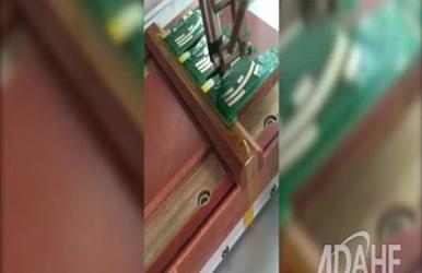 汽车电子板拖焊测试专用自动焊锡机视频-精度测试